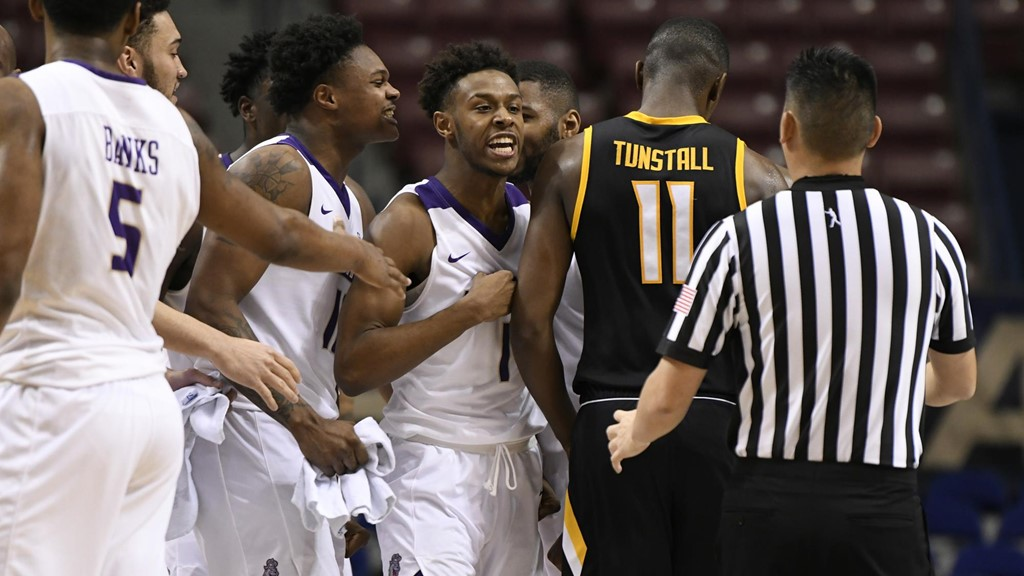 free shipping a2f9e 81203 Lewis' Three-Pointer Lifts JMU Past Towson, 74-73, In Opener ...